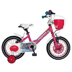 """Bicicleta copii CARPAT C1608C, 16"""", fucsia-alb"""