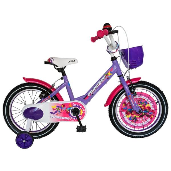 """Bicicleta copii CARPAT C1608C, 16"""", violet-alb"""