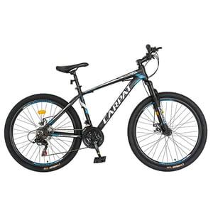 "Bicicleta MTB CARPAT C2658CGN, 26"", cadru aluminiu, gri-negru"