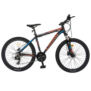 """Bicicleta Mountain Bike CARPAT C2681H 26"""", Aluminiu, negru-rosu"""