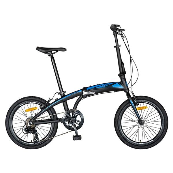 """Bicicleta pliabila CARPAT C2052C, 20"""", cadru aluminiu, negru-albastru"""