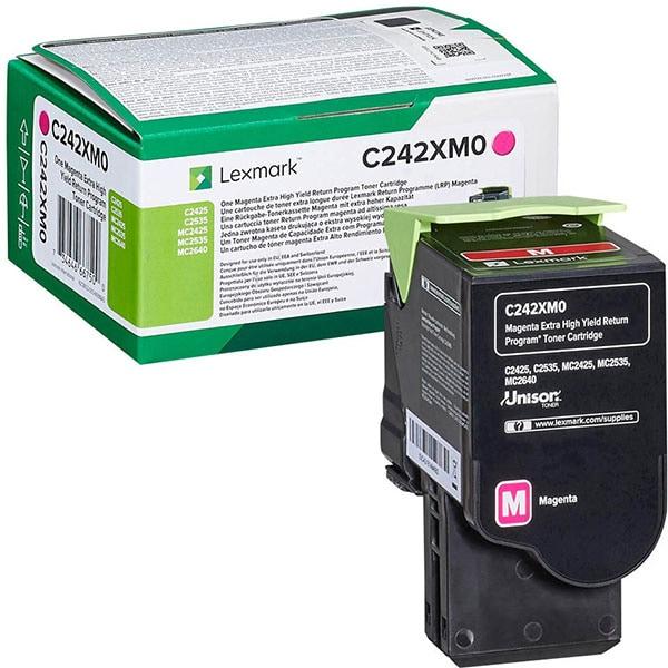 Toner LEXMARK C242XM0 Return Program, magenta