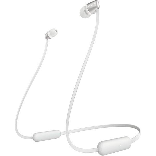Casti SONY WIC310, Bluetooth, In-Ear, Microfon, alb