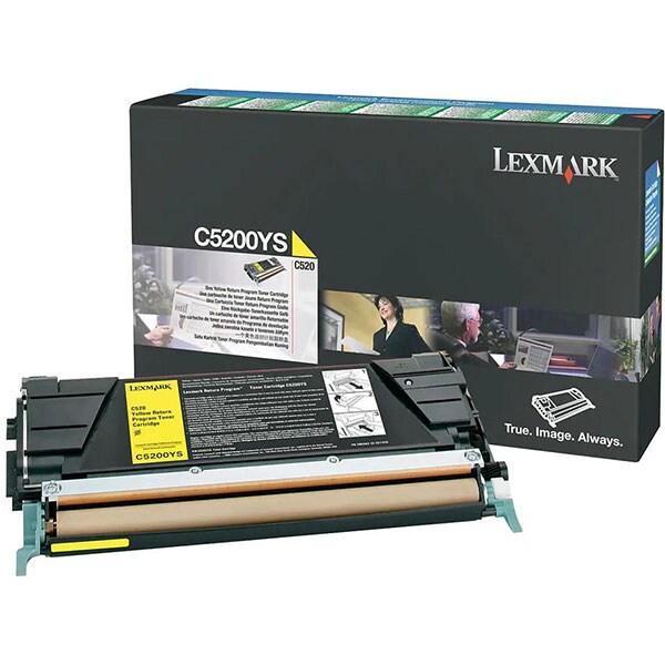 Toner LEXMARK C5200YS Return Program, galben