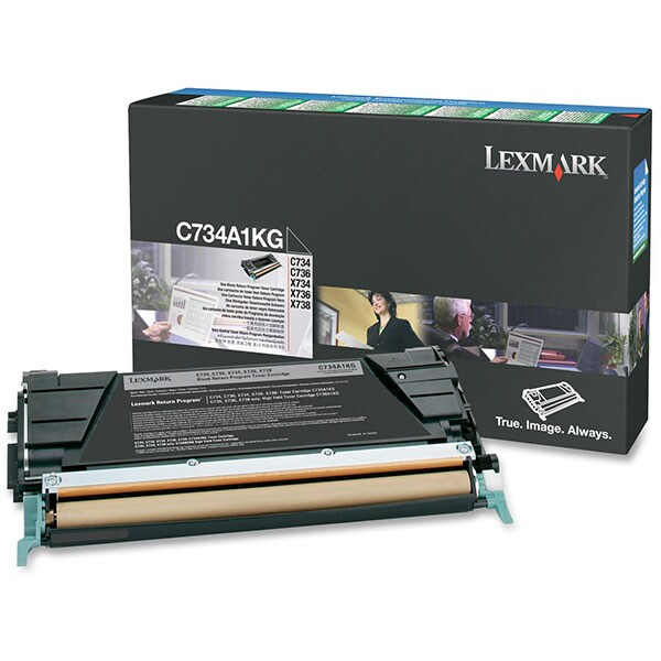 Toner original LEXMARK C734A1KG C734/6 Return Program, negru