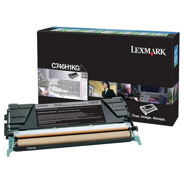 Toner original LEXMARK XL C746H1KG C746 Return Program, negru