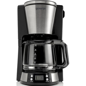 Cafetiera GORENJE CM15BK, 1.5l, 1000W, negru-argintiu