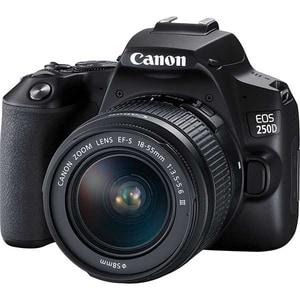 Aparat foto DSLR CANON EOS 250D, 24.1 MP, Wi-Fi, negru + Obiectiv EF-S 18-55mm DC