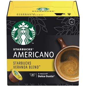 Capsule cafea STARBUCKS Americano Veranda Blend compatibilitate cu Nescafe Dolce Gusto 12451698, 12 capsule, 102g
