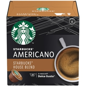 Capsule cafea STARBUCKS Americano House Blend compatibilitate cu Nescafe Dolce Gusto 12451718, 12 capsule, 102g