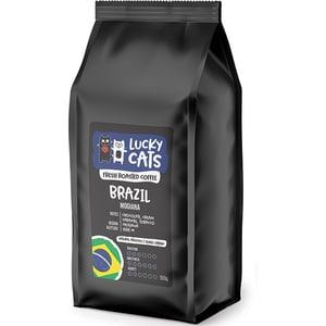 Cafea boabe LUCKY CATS Brazil Mogiana, 500g