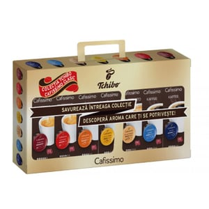 Pachet capsule cafea TCHIBO Cafissimo Collection 514321, 70 capsule, 501g