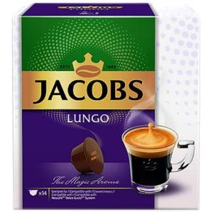 Capsule cafea JACOBS Lungo compatibilitate cu Nescafe Dolce Gusto, 14 capsule, 98g