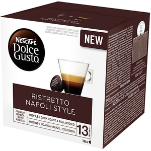 Capsule cafea NESCAFE Dolce Gusto Ristretto Napoli Style ,16 capsule, 128g
