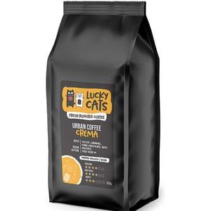 Cafea boabe LUCKY CATS Urban Coffee Crema, 500g
