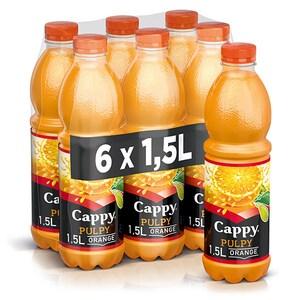 Bautura racoritoare necarbogazoasa CAPPY Pulpy Portocale bax 1.5L x 6 sticle