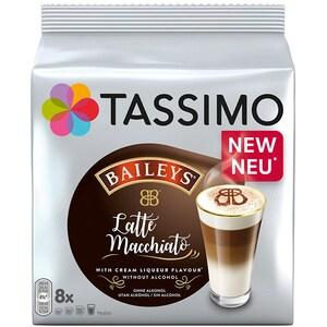 Capsule cafea JACOBS Tassimo Baileys Latte Macchiato, 8 capsule cafea + 8 capsule lapte, 264g