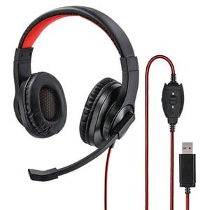 Casti PC HAMA PC-Office HS-USB400, USB, negru-rosu