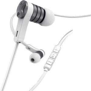Casti HAMA Intense 184019, Cu fir, In-ear, Microfon, argintiu-alb