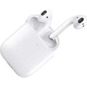 Casti APPLE AirPods 2 MRXJ2ZM/A, True Wireless Bluetooth, In-Ear, Microfon, cu incarcare wireless, alb