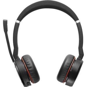 Casti JABRA Evolve 75 UC, Bluetooth, On-Ear, Microfon, Noise Cancelling, negru