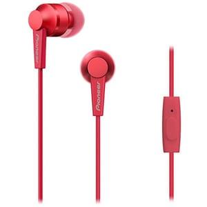 Casti PIONEER SE-C3T, Cu Fir, In-Ear, Microfon, rosu