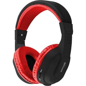 Casti PROMATE Tempo-BT, Bluetooth, Over-Ear, Microfon, rosu