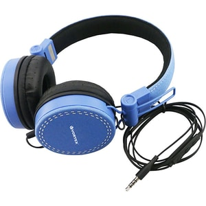Casti VORTEX VO9008, Cu Fir, On-Ear, Microfon, albastru