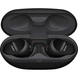 Casti SONY WF-SP800N, True Wireless, Bluetooth, In-Ear, Microfon, EXTRA Bass, Noise Cancelling, negru