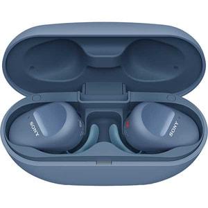 Casti SONY WF-SP800N, True Wireless, Bluetooth, In-Ear, Microfon, EXTRA Bass, Noise Cancelling, albastru