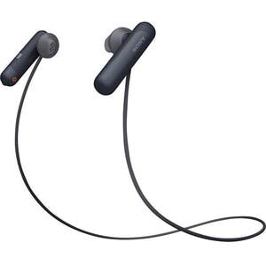 Casti SONY WI-SP500B, Bluetooth, NFC, In-Ear, Microfon, Rezistente la stropire, Google Assistant, negru