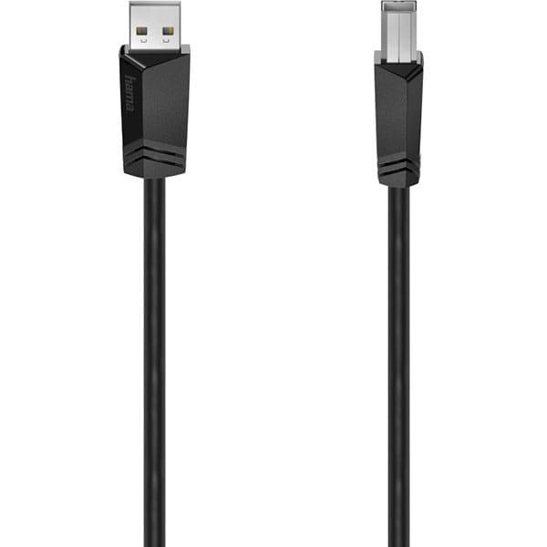 Cablu USB 2.0 A - USB B HAMA 200603, 3m, negru