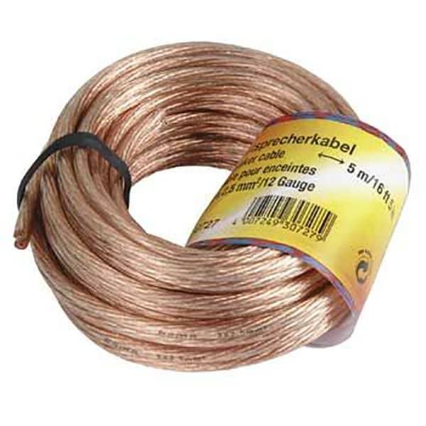 Cablu difuzor 2 x 2.5 mm² HAMA 30728, 10m, transparent