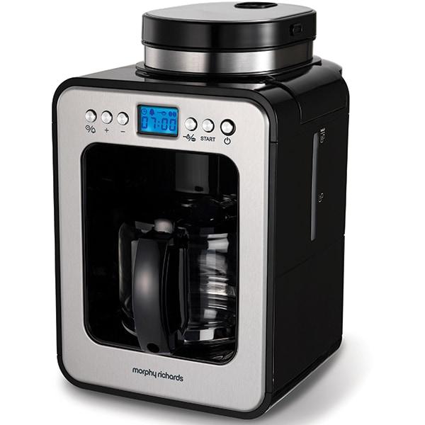 Cafetiera MORPHY RICHARDS Evoke Grind&Brew 162100, 0.5l, 600W, negru-argintiu