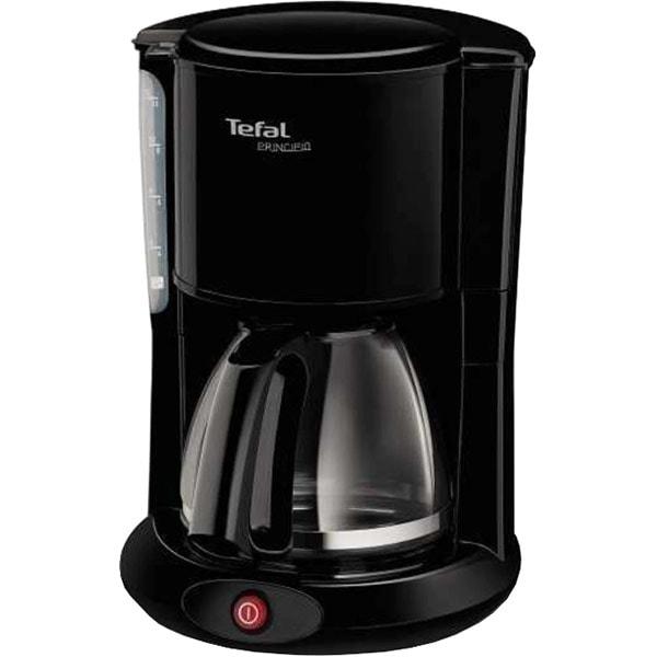 Cafetiera TEFAL Principio CM260812, 1.25l, 1000W, 15 cesti, negru