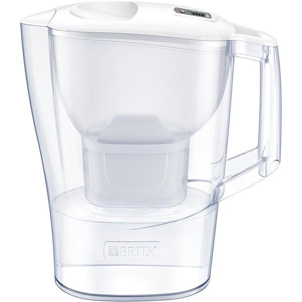 Cana filtranta BRITA Aluna + 3 filtre Maxtra+ BR1040564, 2.4l, alb-transparent