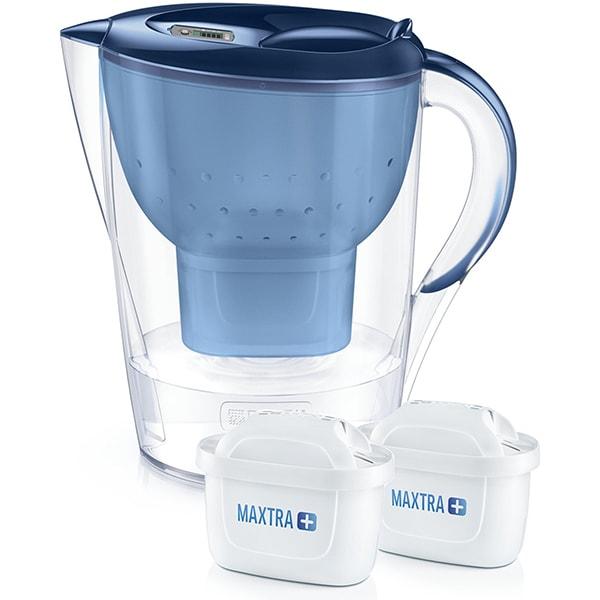 Cana filtranta BRITA Marella + 2 filtre Maxtra+ BR1040565, 3.5l, albastru-transparent