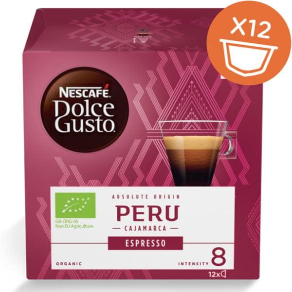 Capsule cafea NESCAFE Dolce Gusto Espresso Peru BIO, 12 capsule, 84g