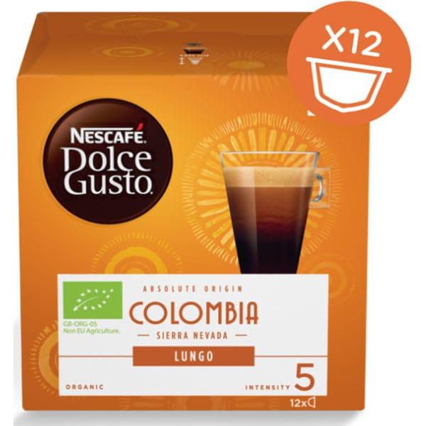 Capsule cafea NESCAFE Dolce Gusto Lungo Columbia BIO, 12 capsule, 84g