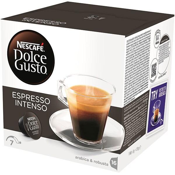 Capsule cafea NESCAFE Dolce Gusto Espresso Intenso, 16 capsule, 128g