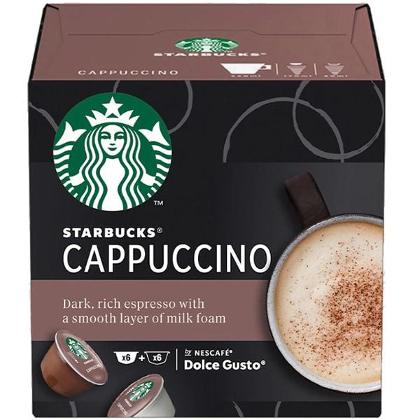 Capsule cafea STARBUCKS Cappuccino compatibilitate cu Nescafe Dolce Gusto 12451742, 12 capsule,120g