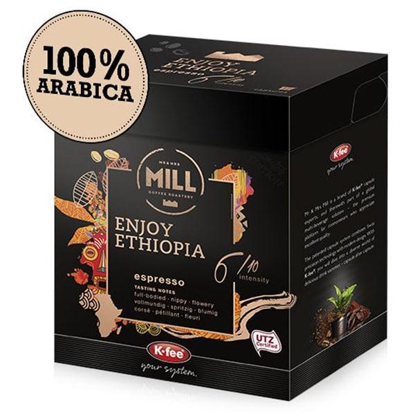 Capsule cafea MR & MRS MILL Enjoy Ethiopia compatibilitate cu Tchibo, 12 capsule, 93g