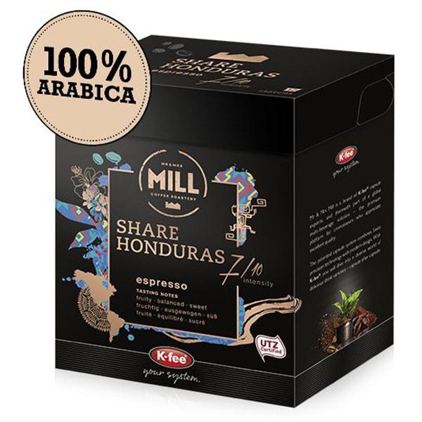 Capsule cafea MR & MRS MILL Honduras compatibilitate cu Tchib0, 12 capsule, 93g