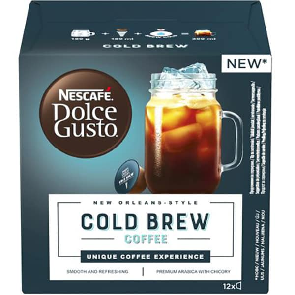 Capsule cafea NESCAFE Dolce Gusto Cold Brew, 12 capsule, 116.4g