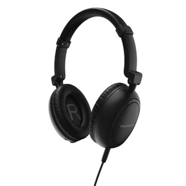 Casti THOMSON HED2307BKNCL, Cu Fir, On-Ear, Microfon, negru