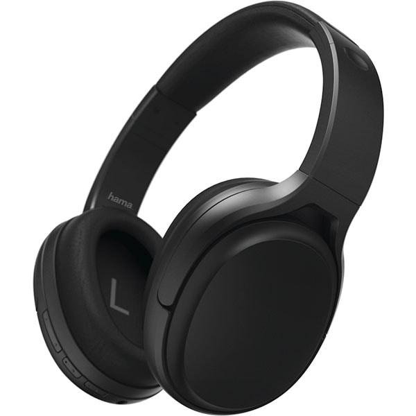Casti HAMA Tour ANC 184025, Bluetooth, Over-Ear, Microfon, Noise Cancelling, negru