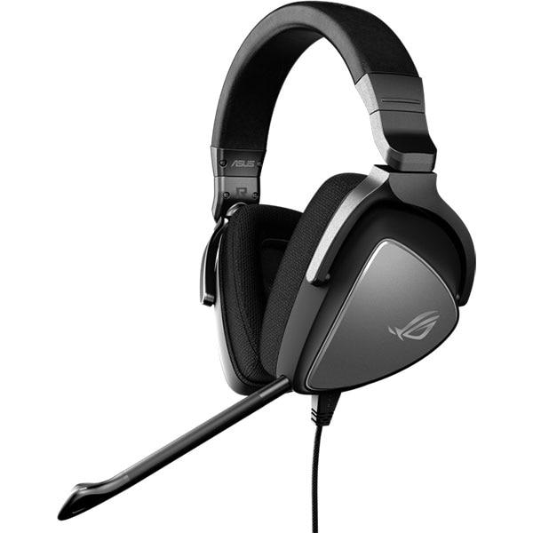 Casti Gaming ASUS ROG Delta Core, multiplatforma, Hi-Res, 3.5mm, argintiu-negru