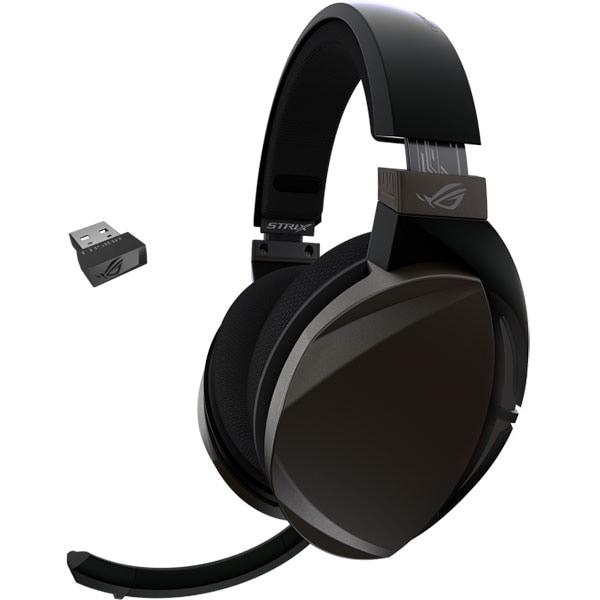 Casti Gaming Wireless ASUS ROG Strix Fusion Wireless, stereo, multiplatforma, maro-negru