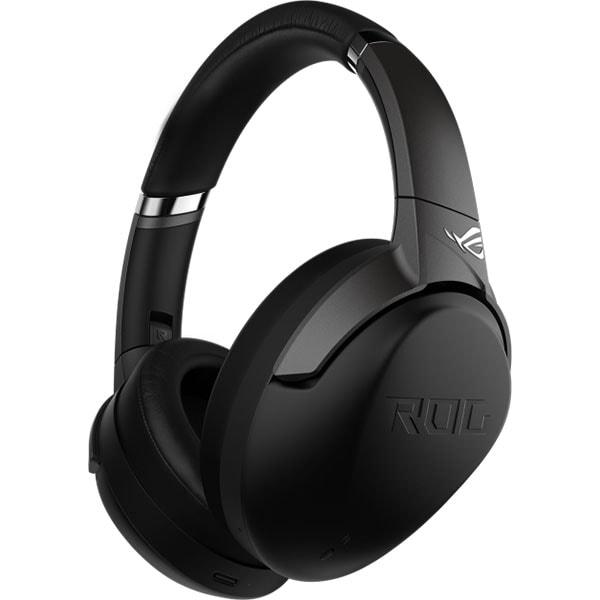 Casti Gaming Wireless ASUS ROG Strix Go BT, stereo, 7.1 surround, multiplatforma, Hi-Res, 3.5mm, negru