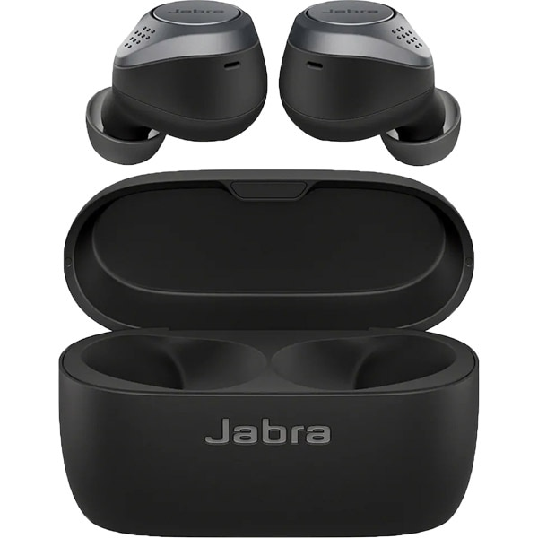 Casti JABRA Elite 75t, True Wireless, Bluetooth, In-Ear, Microfon, Noise Cancelling, Titanium Black